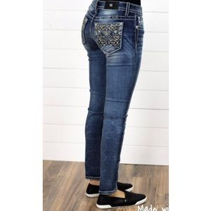 Miss me jeans bling Aztec pocket hailey skinny NWT